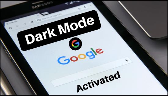 dark mode for google app