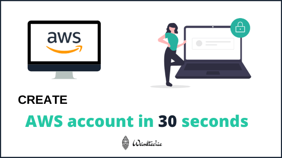 How to create aws account fast